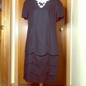 CH by Carolina Herrera black scallop dress